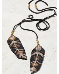 Free People - Black Accessories Designer Jewelry Feather In The Wind Lariat - Lyst
