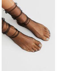 Free People - Black Felix Sheer Crew Socks - Lyst