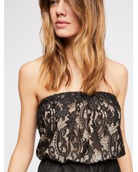 Free People - Black Oh Lovely Day Teddy - Lyst