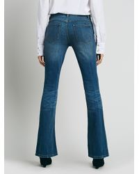 Free People - Blue 5 Pocket Skinny Flare - Lyst