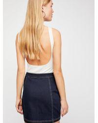 Free People - Blue Little Daisies Mini Skirt - Lyst