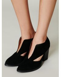 Free People - Black Deep V Ankle Boot - Lyst