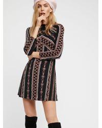 Free People - Black Clothes Dresses Day Dresses Stella Mini Dress - Lyst