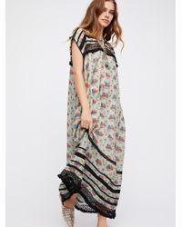 Free People | Gray Clothes Dresses Maxi Dresses Sabina Boho Dress | Lyst