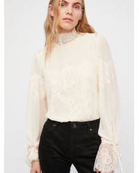 Free People White Queen For A Day Bodysuit By Hah