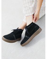 Free People - Black Aiden Sneaker Boot - Lyst