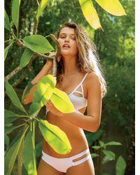 Free People White Chloe Moderate Bikini Bottom Jessi Bikini Top