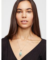 Free People - Multicolor Sterling Turquoise Pendant - Lyst