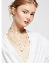 Free People - Metallic Under The Sun Chain Halter - Lyst