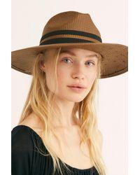 Free People - Brown Monterey Straw Hat - Lyst