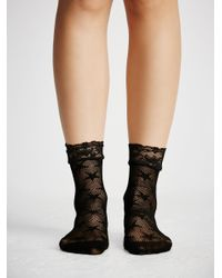 Free People - Black Count Your Stars Net Anklet By Look From London - Lyst