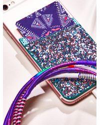 Free People - Purple Leather Iphone Pocket - Lyst