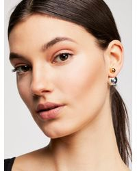 Free People - Metallic Double Sided Orbit Studs - Lyst