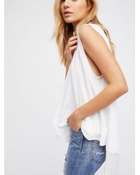 Free People - White We The Free Peachy Tee - Lyst