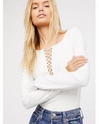 Free People - White We The Free Jacqui Layering Top - Lyst