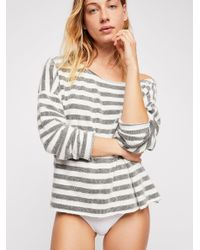 Free People - White Britt Babe Pullover - Lyst