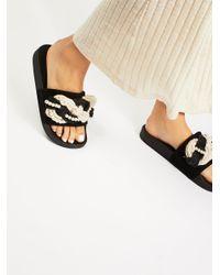 Free People - Black Mother Of Pearl Slip Sandals - Lyst