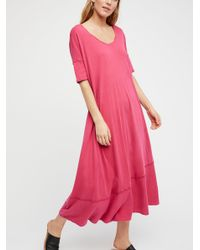 Free People - Pink Pebble Beach Maxi Dress - Lyst