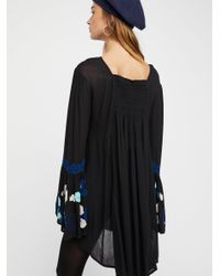 Free People - Black So In Love Embroidered Tunic - Lyst