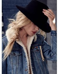 Free People - Black Clean Slate Felt Hat - Lyst