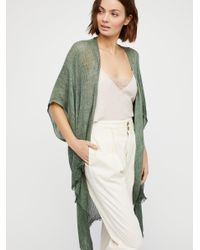 Free People - Green Day Dream Washed Kimono - Lyst