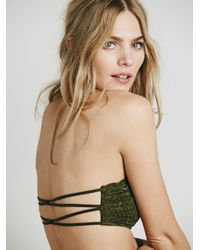 Free People - Green Essential Lace Bandeau - Lyst