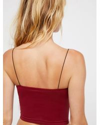 Free People - Red Skinny Strap Brami By Intimately - Lyst