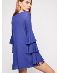 Free People - Blue Seashore Mini Dress - Lyst