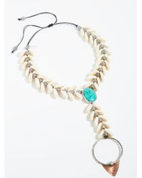 Free People - Black Siren Shell Necklace - Lyst