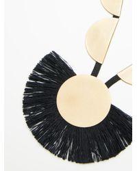 Free People - Black Accessories Designer Jewelry Rolling Rocks Tassel Pendant - Lyst