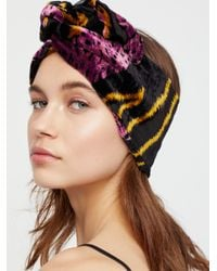 Free People | Multicolor Burnout Velvet Wire Turban | Lyst