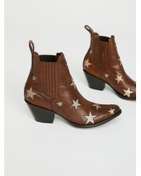 Free People | Brown Reach For The Stars Ankle Boot | Lyst