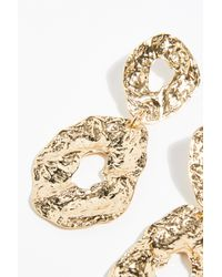 Free People - Metallic Molten Hoop Earrings - Lyst