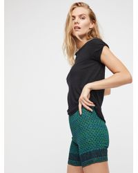 Free People - Green Fp One Smocked Bike Shorts - Lyst