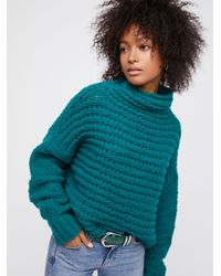 Free People - Green Links Links Mock Neck - Lyst