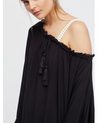 Free People - Black Here To Stay Tunic - Lyst