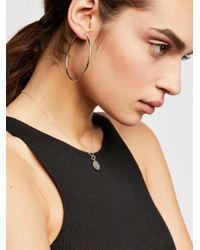 Free People - Metallic Facet Hoop Earrings - Lyst