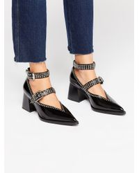 Free People - Black Walk On By Heel By Jeffrey Campbell - Lyst