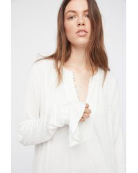 Free People - White Your Girl Tunic - Lyst