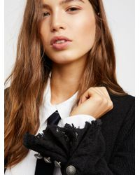 Free People - Black Flared Sleeve Blazer - Lyst