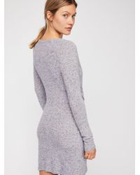Free People - Blue Ginger Cozy Dress - Lyst