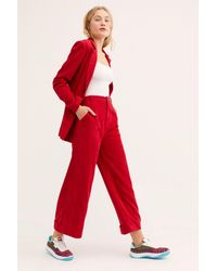 Free People - Red Portia Suit - Lyst