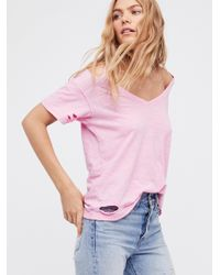 Free People - Pink We The Free Surfs Up Tee - Lyst