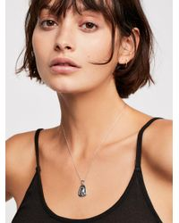 Free People - Metallic Silver Mary Pendant - Lyst