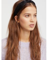 Free People - Black Nothing But Net Headband - Lyst