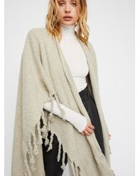 Free People - Natural Clothes Jackets & Outerwear Kimonos & Ponchos Honey Bear Fringe Kimono - Lyst