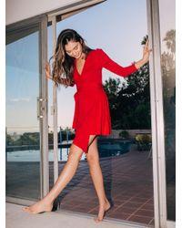 Free People - Red Holla Holla Mini Dress - Lyst