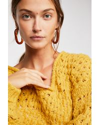 Free People - Yellow Crashing Waves Pullover - Lyst