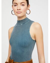 Free People - Blue No Looking Back Washed Cami - Lyst