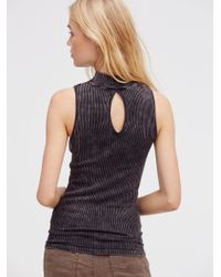 Free People - Black No Looking Back Washed Cami - Lyst